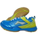 Li Ning Star Trek Badminton Shoes Blue and Lime
