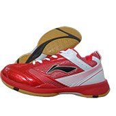 Li Ning Star Trek Badminton Shoes Red and White