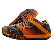 Li Ning Hero No. 1 LTD ED Badminton Shoes Orange and Black