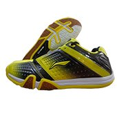 Li Ning Hero No. 1 LTD ED Badminton Shoes Yellow Black and White