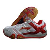 Li Ning SAGA X Badminton Shoes White and Red