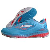 Li Ning AYTJ 077 Training Badminton Shoes Blue White and Red