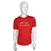 LiNing T Shirt Round Neck with Half sleeve Red Size Small