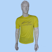 LiNing T Shirt Round Neck with Half sleeve Yellow Size Extra Large