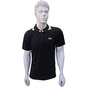 LiNing T Shirt Mens polo Tee half sleeve Black Size XL