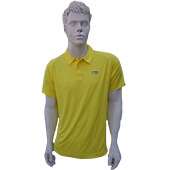LiNing T Shirt Mens polo Tee half sleeve Yellow Size Large