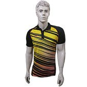 LiNing polo Tee Badminton T Shirt Yellow and Black Size Small