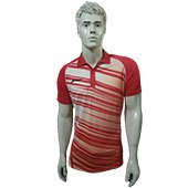 LiNing polo Tee Badminton T Shirt Red and White Size XS