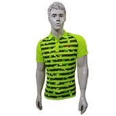 LiNing Polo Tee Badminton T Shirt Colar Neck with Half Sleeve Lime Size XL