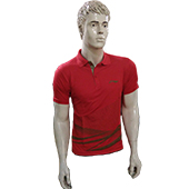 LiNing T Shirt color Neck with Half sleeve Red Size Medium