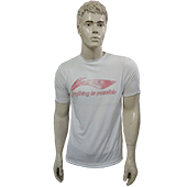 LiNing T Shirt Round Neck with Half sleeve White STR1 Size XL