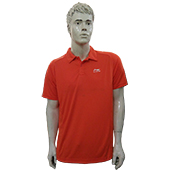 LiNing T Shirt Mens polo Tee Color Neck With Half Sleeve Orange Size 2XL