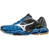 Mizuno Mens Wave Tornado X Mid Top Neon Yellow and Navy