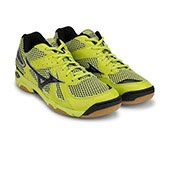 Mizuno Wave Twister 4 Shoes LimePunch and Black and Silver