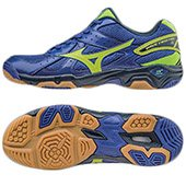 Mizuno V507B73 WAVE TWISTER 4 Shoes Surf the Web and Neon Yellow and Dress Blues