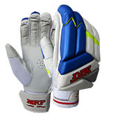 MRF Drive Cricket Batting Gloves White Blue and Green