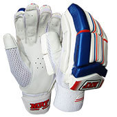 MRF Elegance Cricket Batting Gloves White Blue and Red
