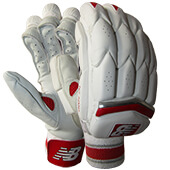 New Balance TC 1260 Cricket Batting Gloves White Red