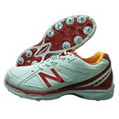 New Balance CK4030C2 Full Spike Cricket Shoes White and Red