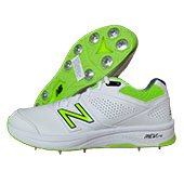 New Balance CK4030 W3 Cricket Shoes White and Fluo Green