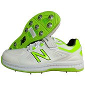 New Balance CK4040 W3 Cricket Shoes White and Fluo Green