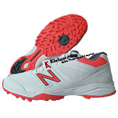 New Balance CK4020B3 Stud Cricket Shoes White and Orange