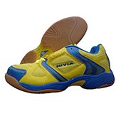 NIVIA New Verdict Badminton Shoes Yellow and Blue