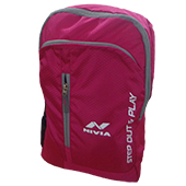 Nivia 5168 PG Casual Backpack Pink and Gray
