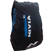 Nivia 686 Casual Backpack Black and Sky Blue