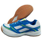 Nivia New Super Court Badminton Shoe White and Aster Blue