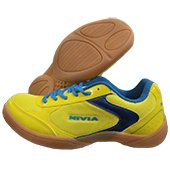 NIVIA Flash Badminton Shoes Yellow and Blue