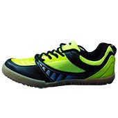 NIVIA Glider Badminton Shoes Lime and Black
