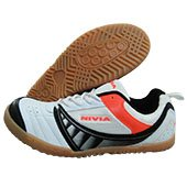 NIVIA Glider Badminton Shoes White and Black