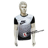 Nike White and Black Badminton T Shirt Size Large