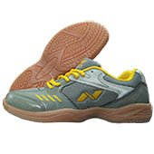 NIVIA HY Court Badminton Shoes Gray and Yellow