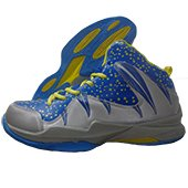 Nivia Warrior I Basketball Shoe Blue and Gray