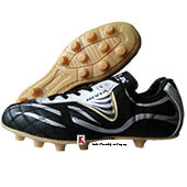 Nivia Low Cut Football Shoes Black and Silver