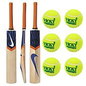Nike Tennis Cricket Bat and 6 Cricket Tennis Ball