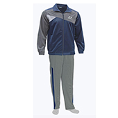 Nivia Supper Poly Tracksuit Blue and Gray 2404 Large