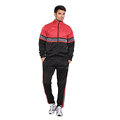 Nivia Supper Poly Tracksuit Red and Black 2401 Medium