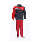 Nivia Supper Poly Tracksuit Red and Black 2404 Large