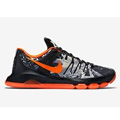 Nike KD 8 limited Basket Ball Shoe Black and Orange