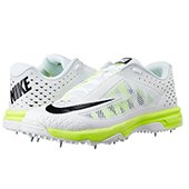 Nike Domain Cricket Spike Shoes White and Green