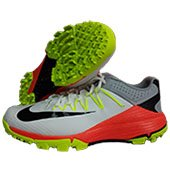 Nike Domain 2 NS Stud Cricket Shoes White Black and Lime