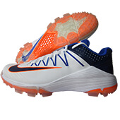 Nike Domain 2 NS Cricket Shoes White Binary and Hyper Blue