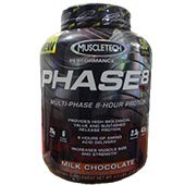 MuscleTech Phase 8 Whey Protein Milk Chocolate 4 point 5 lbs