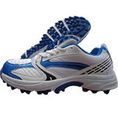NIVIA Stud Cricket Shoes New EDEN White and Blue
