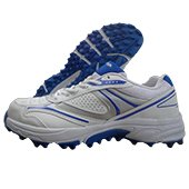 NIVIA Stud Cricket Shoes Auckland White and Royal Blue