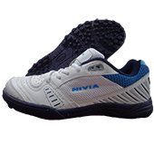 NIVIA Stud Cricket Shoes Caribbean White and Blue