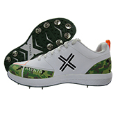 Payntr X Camo Cricket Spikes Shoes White Green Black